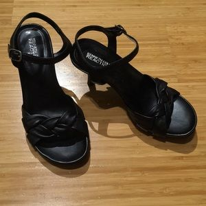 Kenneth Cole black, open toed heels size 6.5.
